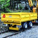 RRT Trailer på jernbaneskinner
